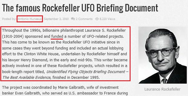 Why are the Rockefellers and the Jesuits guiding the UFO Disclosure Movement? Rockefeller